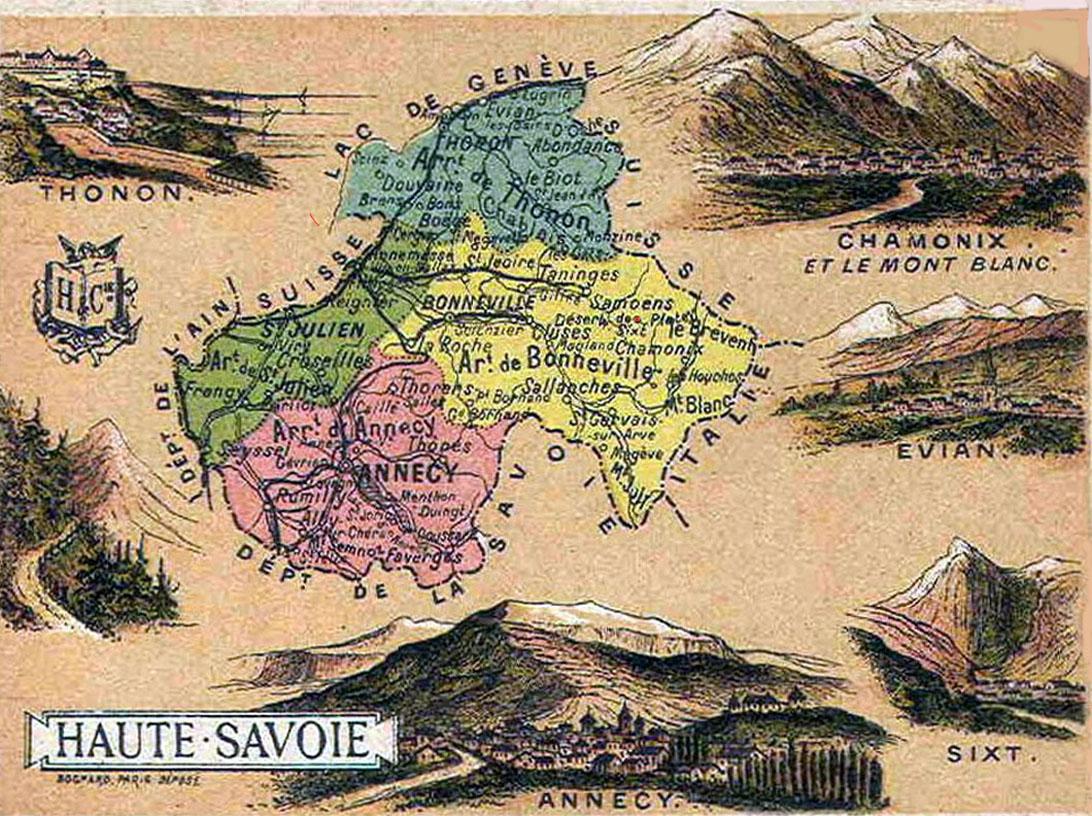 Image gallery haute savoie map for Haute savoie