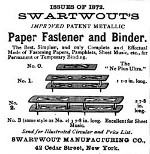 1873 Swartwout Paper Fasteners adv in 1873 pub not 1872 OM.jpg (13909 bytes)