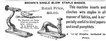1880 Brown's Single-Blow Stapler Driver advert OM.jpg (111140 bytes)