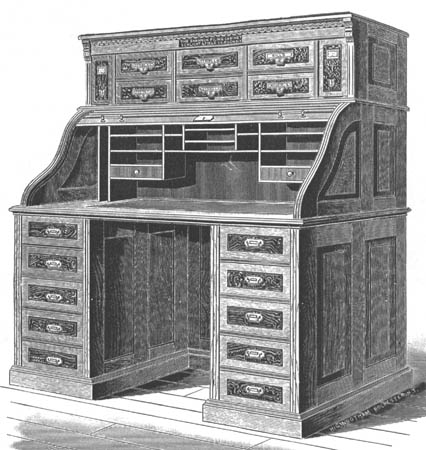 roll top computer desk plans