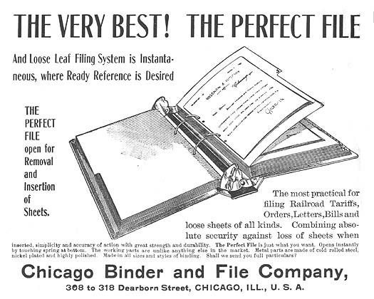 http://www.officemuseum.com/IMagesWWW/1899_Perfect_File_and_Loose_Leaf_Filing_System_Chicago_Binder__File_Co_Chicago_ad_OM.jpg