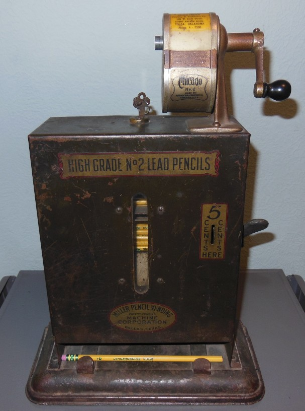 Miller pencil vending machine Dallas TX.JPG (410604 bytes)