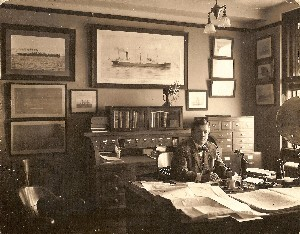 Office with steamship photos OM.jpg (369186 bytes)