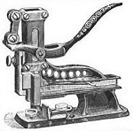 1889 Brown breech loader wire staple binding machine adv OM.jpg (35018 bytes)