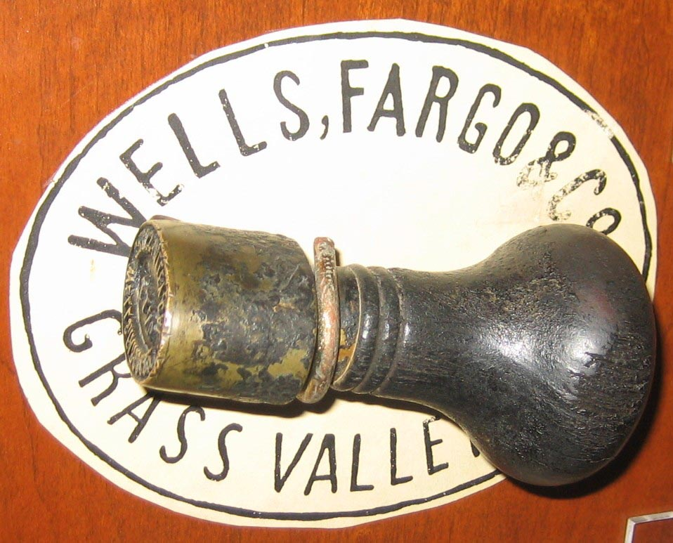 Wells Fargo Museum San Francisco CA Handstamp W Changeable Date Agency Grass Valley Nevada Co 137816 Bytes Rubber Hand Stamps