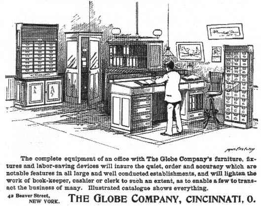 1896 Globe Co Office Furniture Ad Om Jpg 72083 Bytes