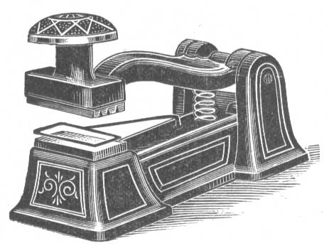 1900 Revenue Stamp Mutilator National Seal Works Ad 28353 Bytes