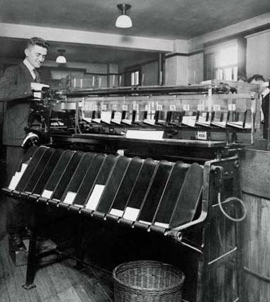 card sorting machine